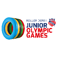 Jr Olym Games - Roller Derby - Track 1 - July 12th - 1 Day Pass Logo