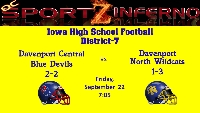 Davenport Central vs. Davenport North Logo