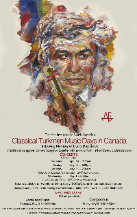 Classical  Turkmen Music Days in Canada Logo