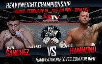 PLATINUM GLOVES MMA LIVE! Feb. 19th 2016 Starts at 8PM Sharp Logo
