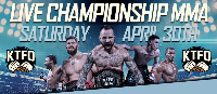 KTFO MMA LIVE! April. 30th 2016 Starts at 7PM Sharp Logo
