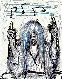 MindofanArtist acoustic performance art show. Logo