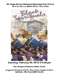 Renaissance Ecumenical Ensemble Sing Black Spirituals Logo