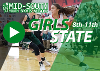 Court 1: 8th  - 11th Grade TNAAU Girls Basketball Championship Logo