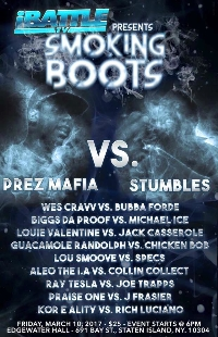 iBattle Presents: SMOKING BOOTS (Battle Rap Event) Logo
