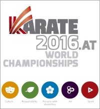Karate World Championships Saturday Afternoon Event - 29/10/2016 Logo