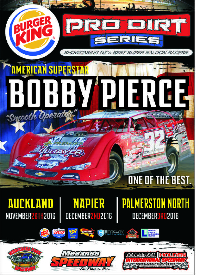 Burger King Pro Dirt Super Saloon Series  - with Bobby Pierce Logo