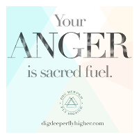 ANGER: Sacred Fuel for Transformation Logo