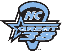 NC Great 38 Lax - Black v. Blue Logo