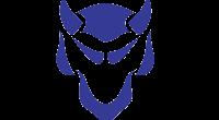 Iowa City High Little Hawks vs Davenport Central Blue Devils Logo