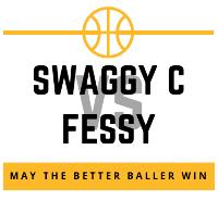 Swaggy vs Fessy Head to Head Basketball Fundraiser Logo