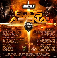 iBattle Presents: Gods of the Arena 5 Logo