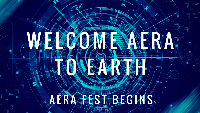 Welcome Aera to Earth - Opening Fest 2018 Logo