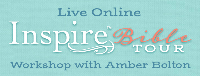 Live Online Inspire Bible TOUR Workshop with Amber Bolton Logo
