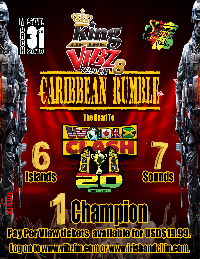 KOV8 presents Caribbean Rumble - Road to World Clash Logo