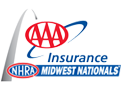 AAA Insurance NHRA Midwest Nats, St Louis, MO - Sunday - AUDIO Only Logo