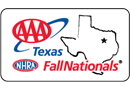 AAA Texas NHRA FallNationals, Texas Motorplex, Dallas, TX - Sunday Logo