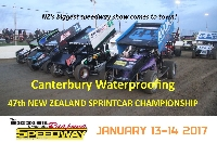 New Zealand Sprint Cars Night 2 Finals Night Logo