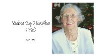 Valerie Hamilton funeral service Logo