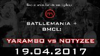 BMCL 19April17: Köln YARAMBO vs NOTYZEE Logo