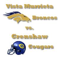 VMHS • Broncos vs Crenshaw • Cougars Logo