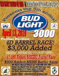 BudLight 3000 Barrel Race / Bikini & Men's Barrel Race Logo