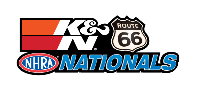 K&N Filters Route 66 NHRA Nationals, Chicago, IL - Friday Logo